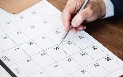 Calendrier 2021 des temps forts d'un programme cartes cadeaux
