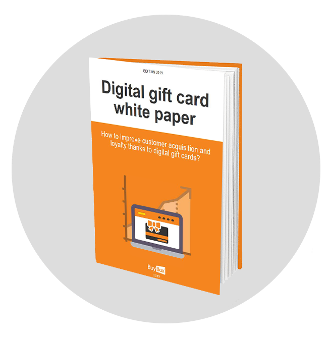 white paper digital gift card