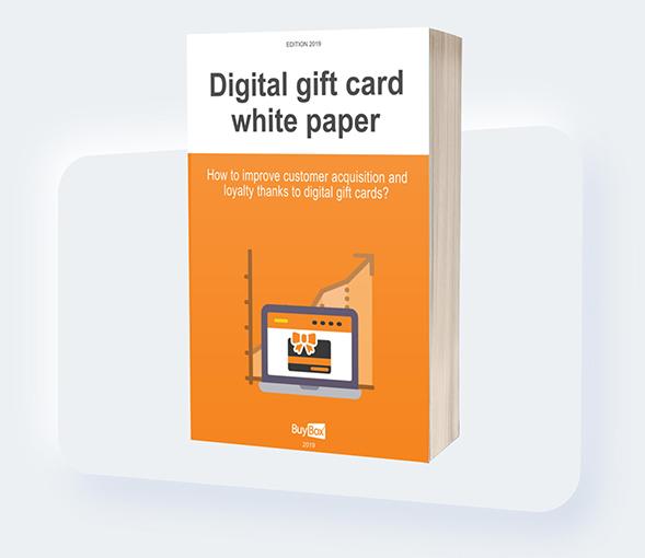 visuel white paper en gift card